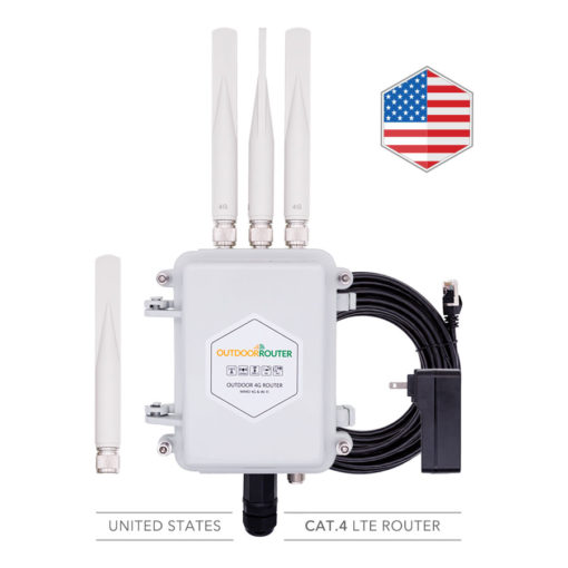 America Outdoor 4G Router Modem with SIM Card Slot Cat4