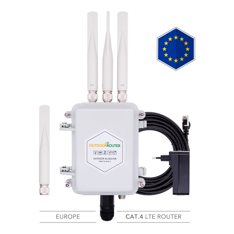 Europe Outdoor 4G LTE Router Dual SIM Card Cat4