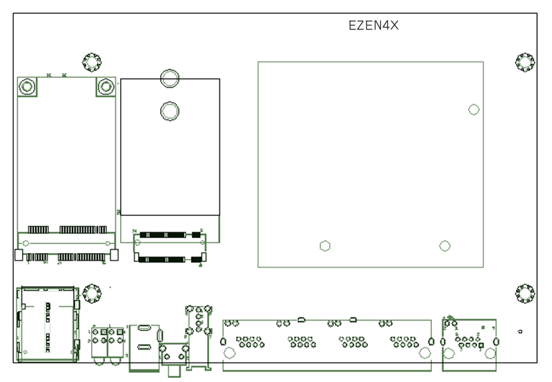 Ezen4X Router Project of 4x Motherboard PCBA